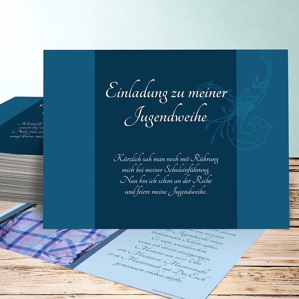 einladungskarten online : jugendweihe einladungskarten