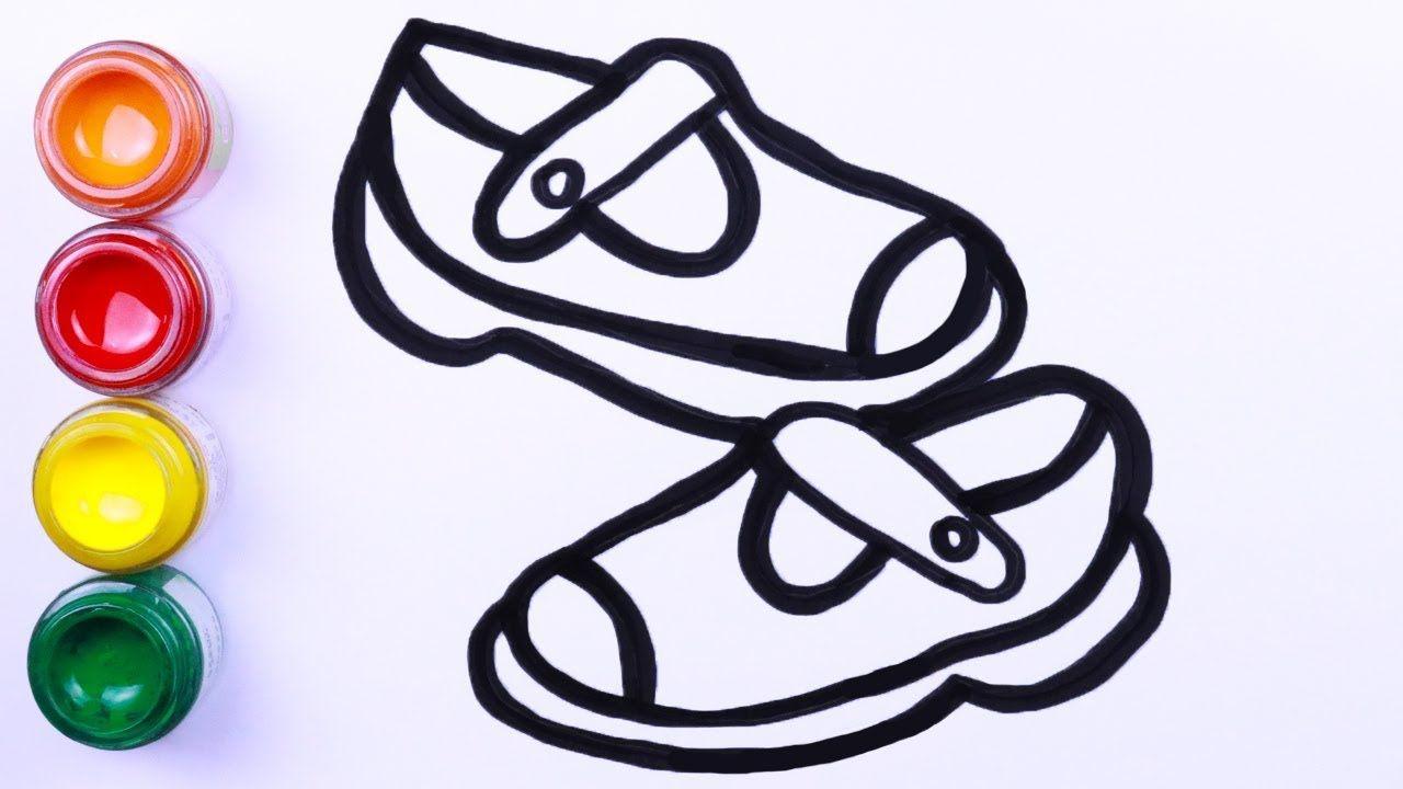 Cara Menggambar Sepatu Menggambar Dan Melukis Mudah Pelajari Warna Cara Menggambar Lukisan Mudah Gambar