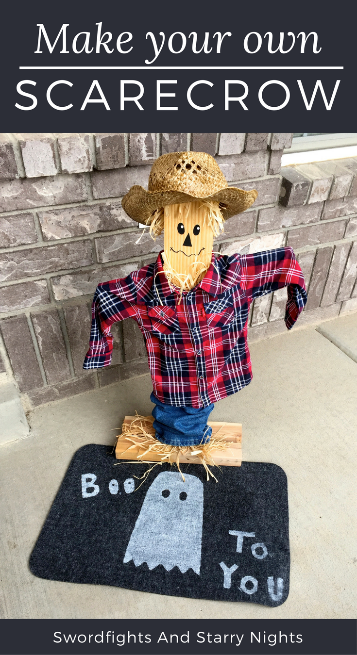 how to make a scarecrow for Fall, decorate, DIY, free face ...