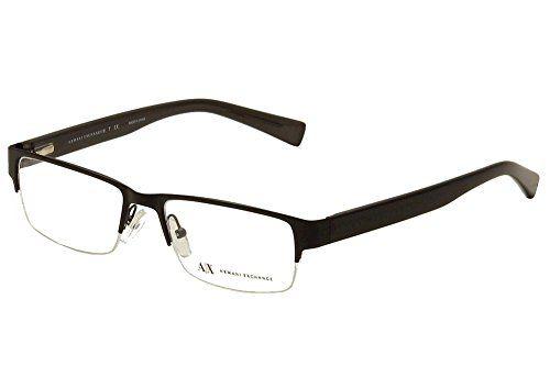 Armani Exchange AX1015 Eyeglass Frames 607052 Satin Blackblk Dk Grey ...