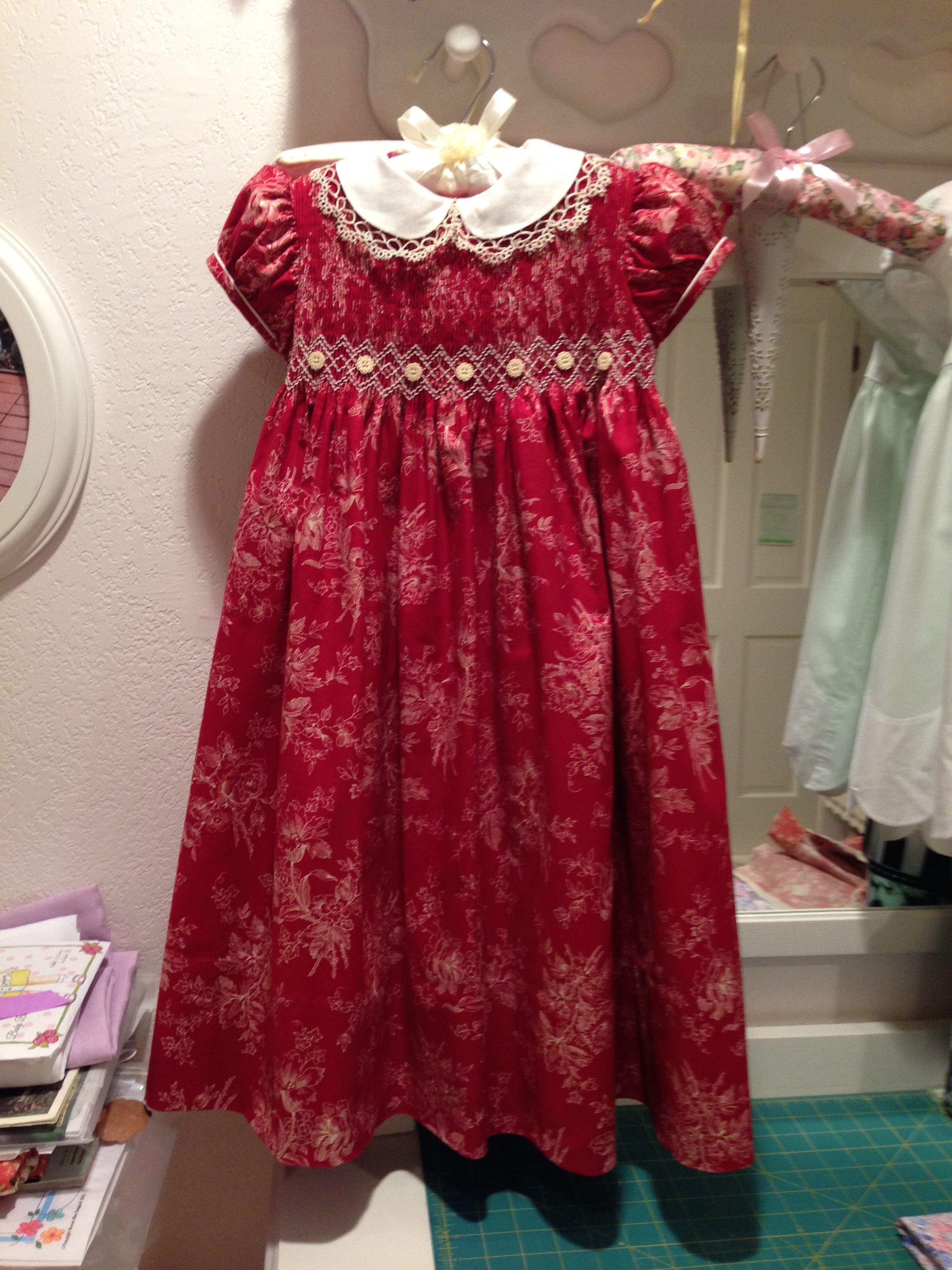 smocked Christmas dress | Smocked baby dresses, Smocked ...