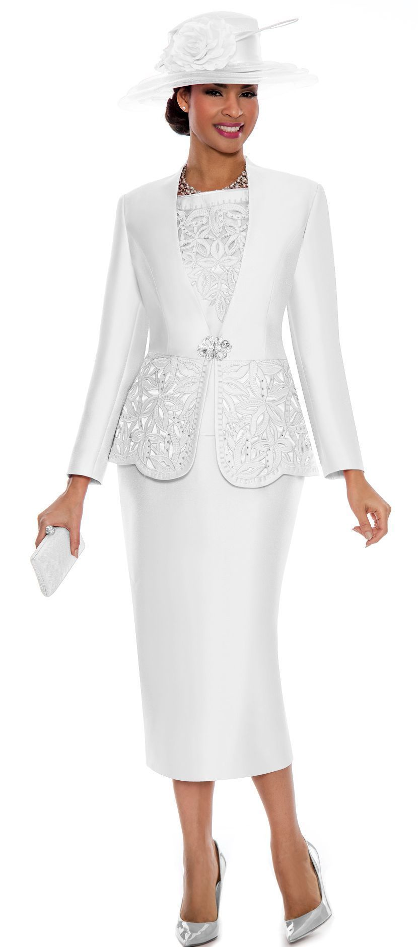 Beautiful 3 Piece Church Suit By Giovanna Made In A Rich