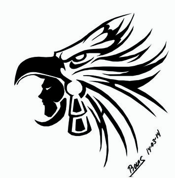 Aguila tribal | Tatuajes | Pinterest | Aguila tribal, Aztecas y Tatuajes