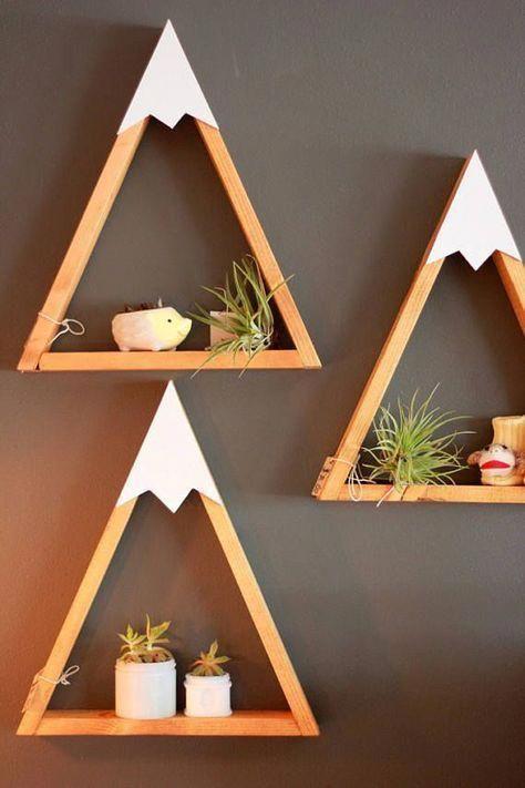 Rustic Home Decor Wall Art Reclaimed Pallet Shelves Wooden