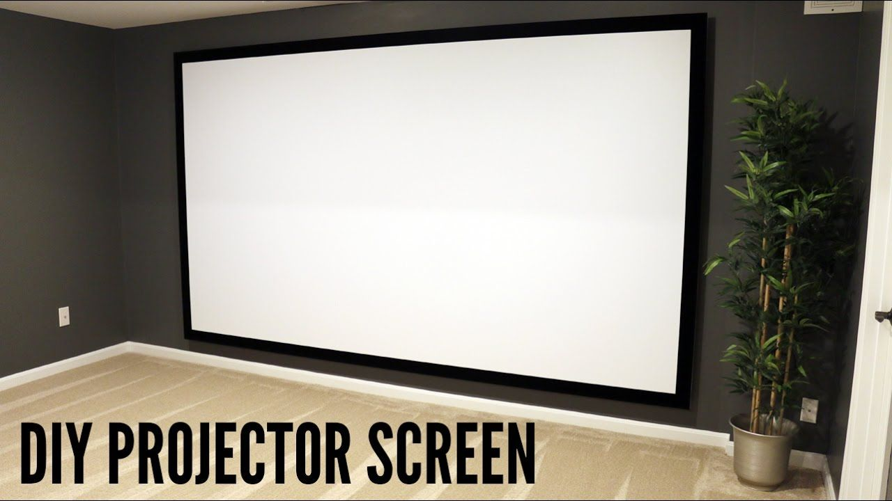 How To Build And Hang A Projector Screen This Great Video Sent To Us By One Of Our Satisfied Customer Projector Screen Diy Homemade Projector Home Cinema Room