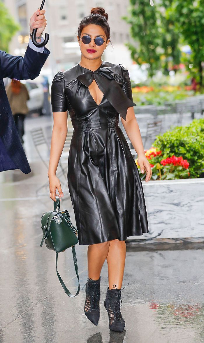 421c35cd444 Leather in the Summer  Priyanka Chopra Shows How It s Done in 2019 ...