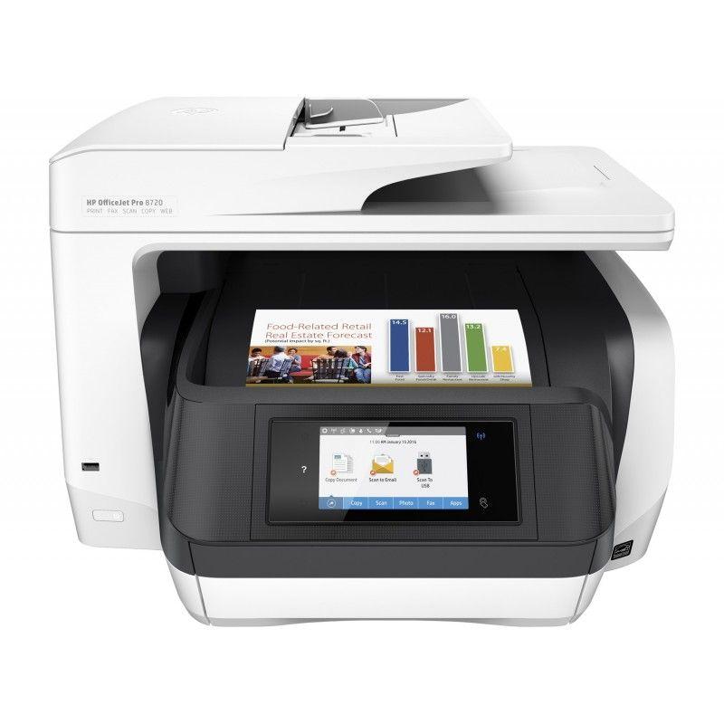 Hp Officejet Pro 8720 Aio Thermal Inkjet 600 X 600 Dpi 1200 X 1200