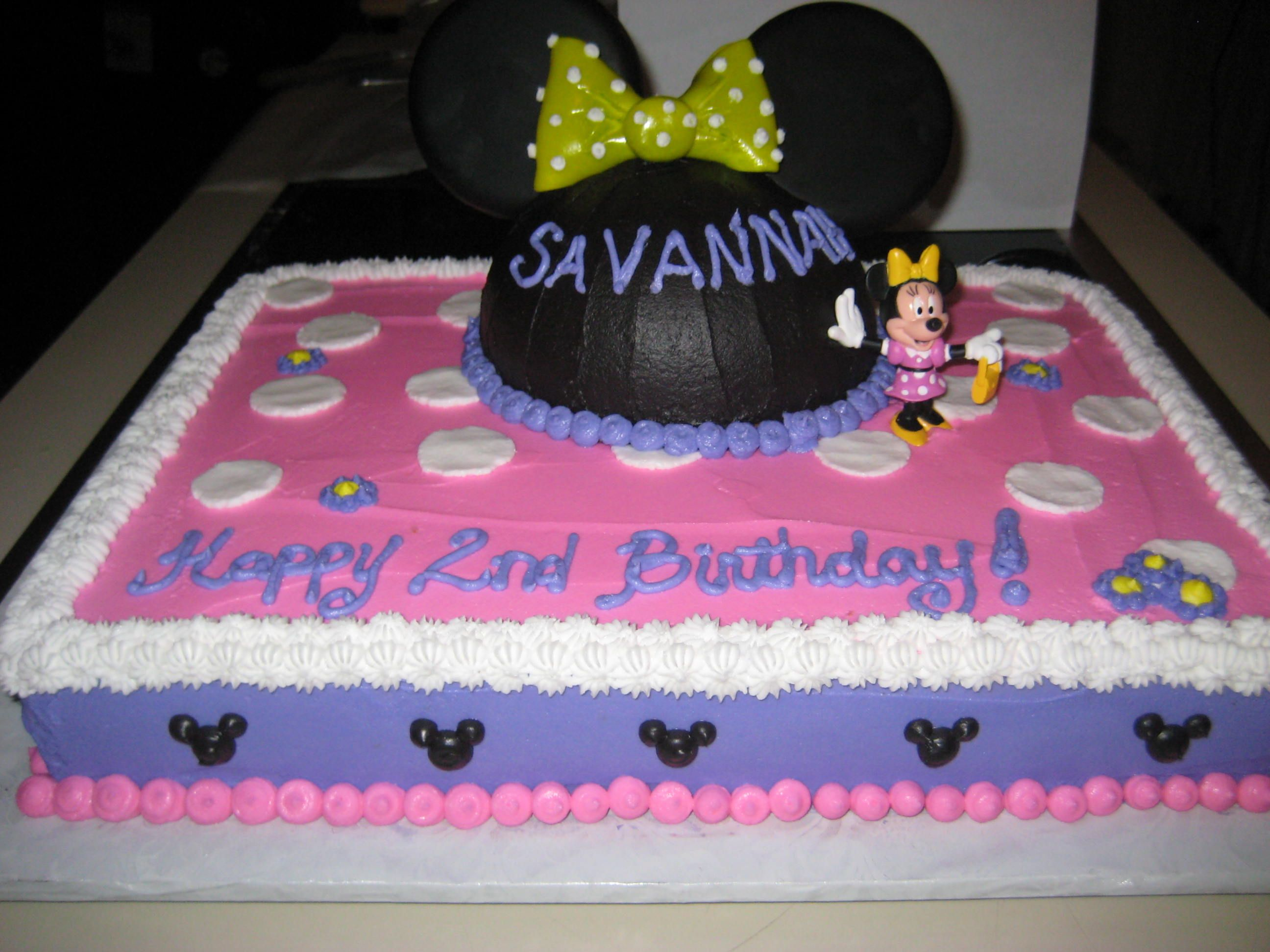 Minnie Mouse Sheet Cake All edible except Minnie figurine