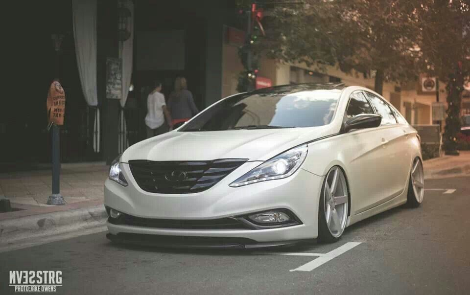 lowered hyundai sonatanice! | custom car ideas | pinterest