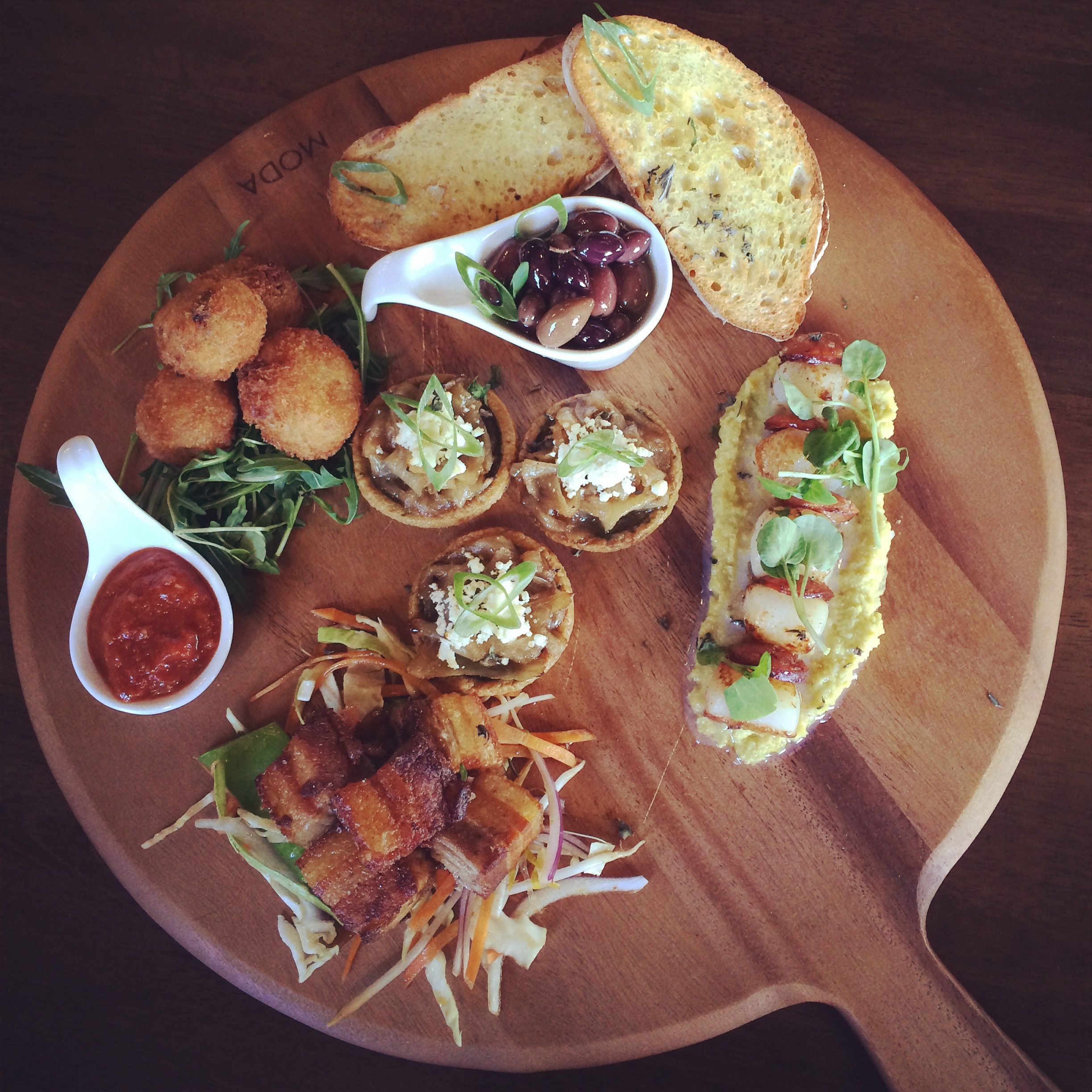 The Brunswick Hotel in New Farm now boast a fab new tapas menu... and $10 glasses of Mumm champagne