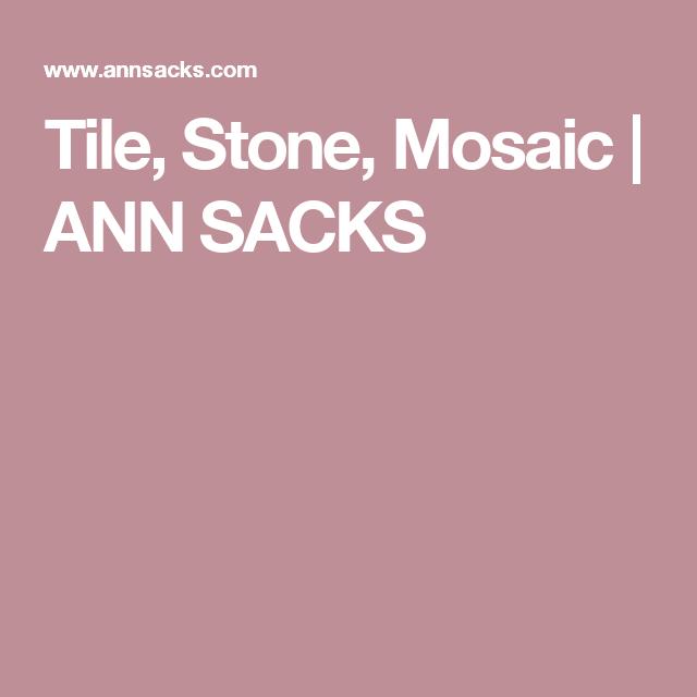 Ann Sacks Mosaic Bathroom Tile: Tile, Stone, Mosaic