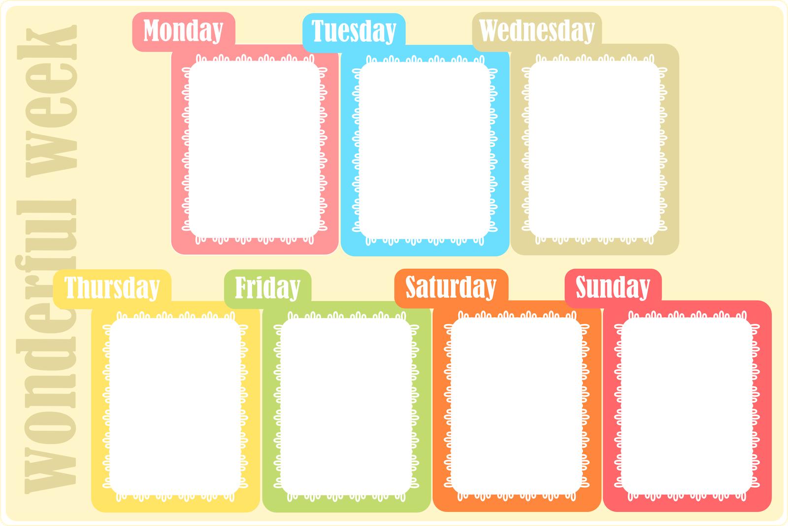 Free Printable Weekly Planner  Weekly Meal  Homework  TodoS