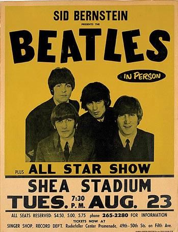 Promotional Posters For The Beatles Shea Stadium Concert