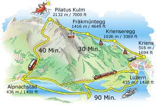 Map of Luzern to Pilatus Switzerland Pinterest Switzerland and