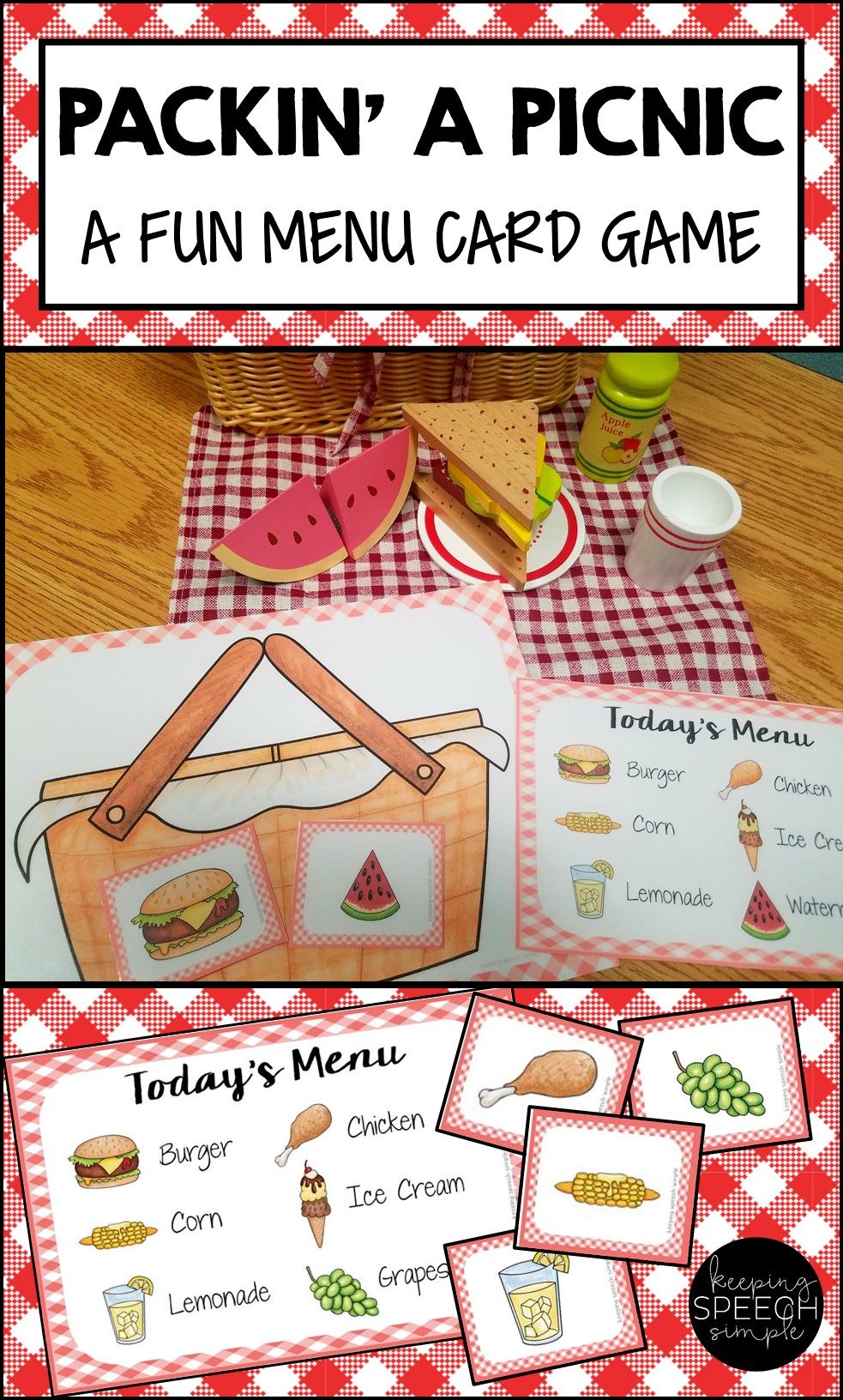 This Fun Picnic Themed Menu Card Game Is A Perfect Way For Preschoolers And Kindergarten Students To Dev Picnic Activities Preschool Activities Preschool Games [ 1632 x 983 Pixel ]