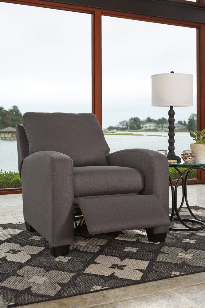 Get Your Ayanna Nuvella   Gray   Low Leg Recliner At Railway Freight  Furniture, Albany GA Furniture Store.
