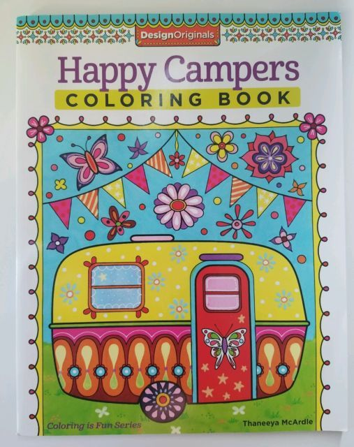 Happy Campers Coloring Book | Coloring books, Designs