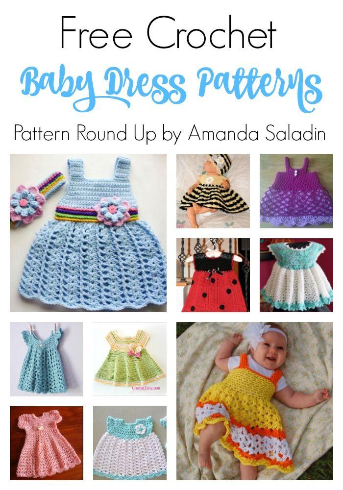 Free Crochet Baby Dress Patterns | Bebé, Bebe y Para bebés