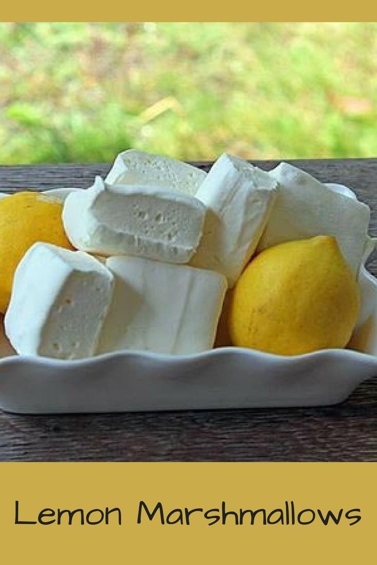 Lemon Marshmallows #flavoredmarshmallows