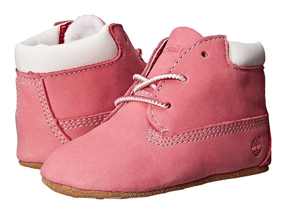 Baby Shoes Timberland Crib Booties And Hat Set Infant Toddlers Baby Pink/white