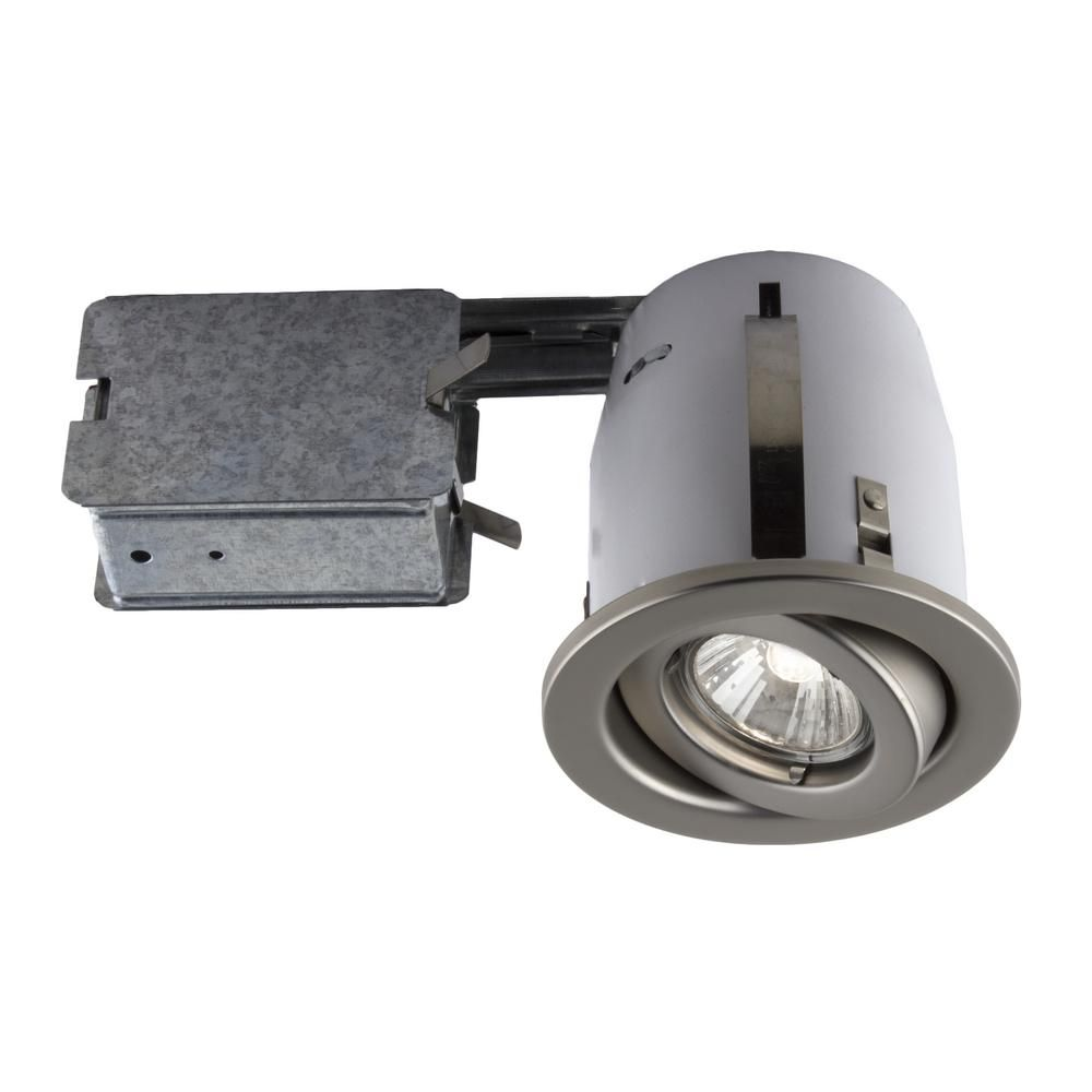 Bazz 300 Series 4 In Satin Recessed Halogen Interior Applications Light Fixture Kit Recessed Lighting Fixtures Recessed Lighting Kits Led Recessed Lighting