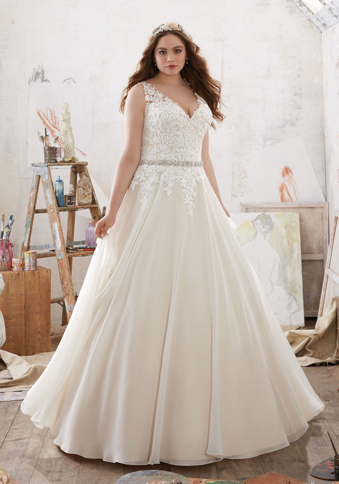 Morilee by madeline gardner umichelleu frosted venice lace