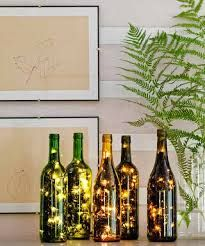 christmas lights in wine bottle decoration - Google Search