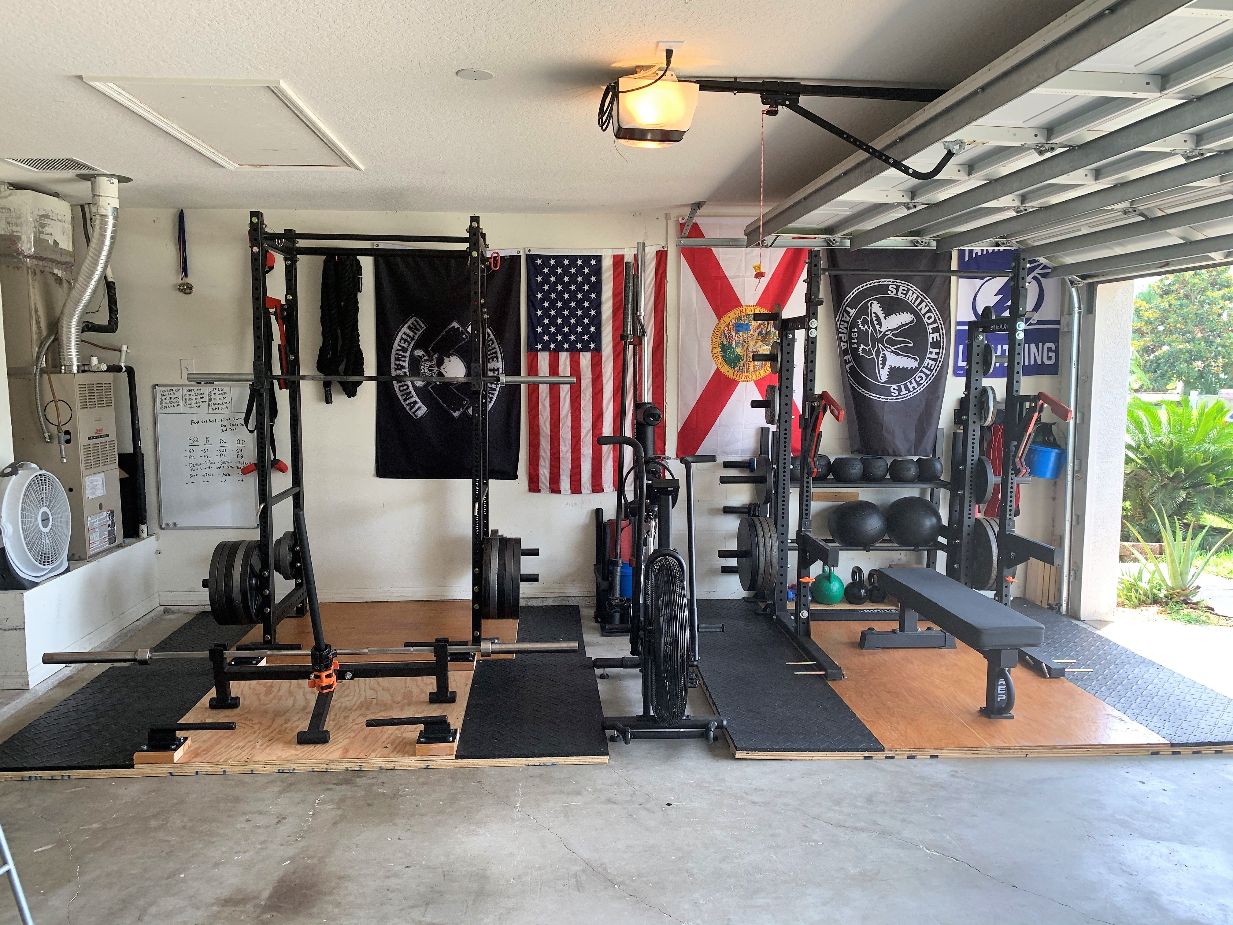 Double Rack Garage Gym Gym Room At Home Home Gym Garage Workout Room Home