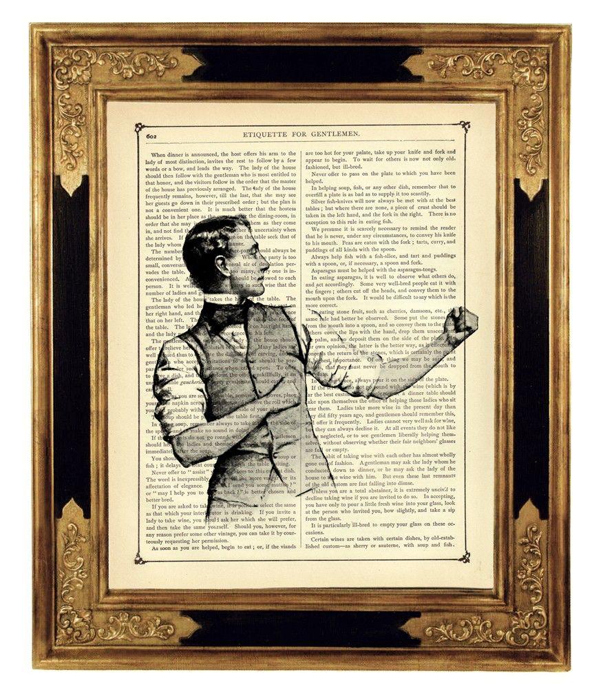 Sherlock Holmes Art Bartitsu Baritsu Gentleman Boxer – Vintage Victorian Book Page Art Print Steampunk