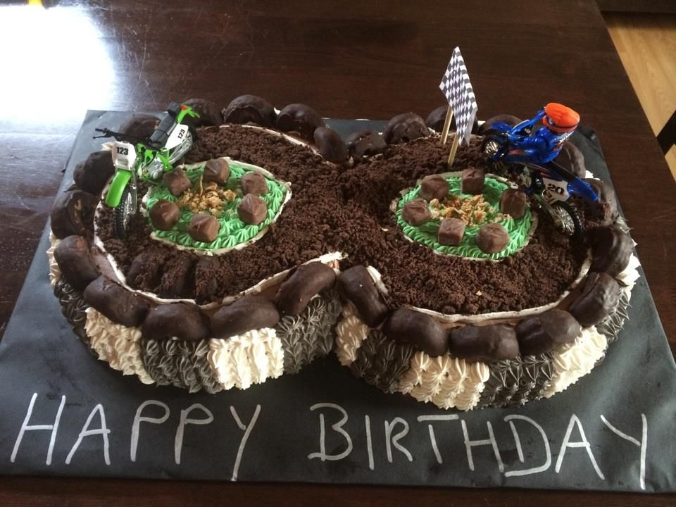 Dirt Bike Cake With Images Cool Birthday Cakes Birthday Cakes