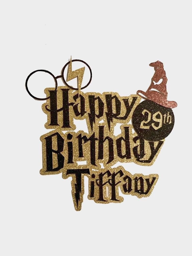 Harry Potter Cake Topper Personalized For Harry Potter Theme Birthday Party Harry Potter Thema Harry Potter Geburtstagskuchen Harry Potter Geburtstag