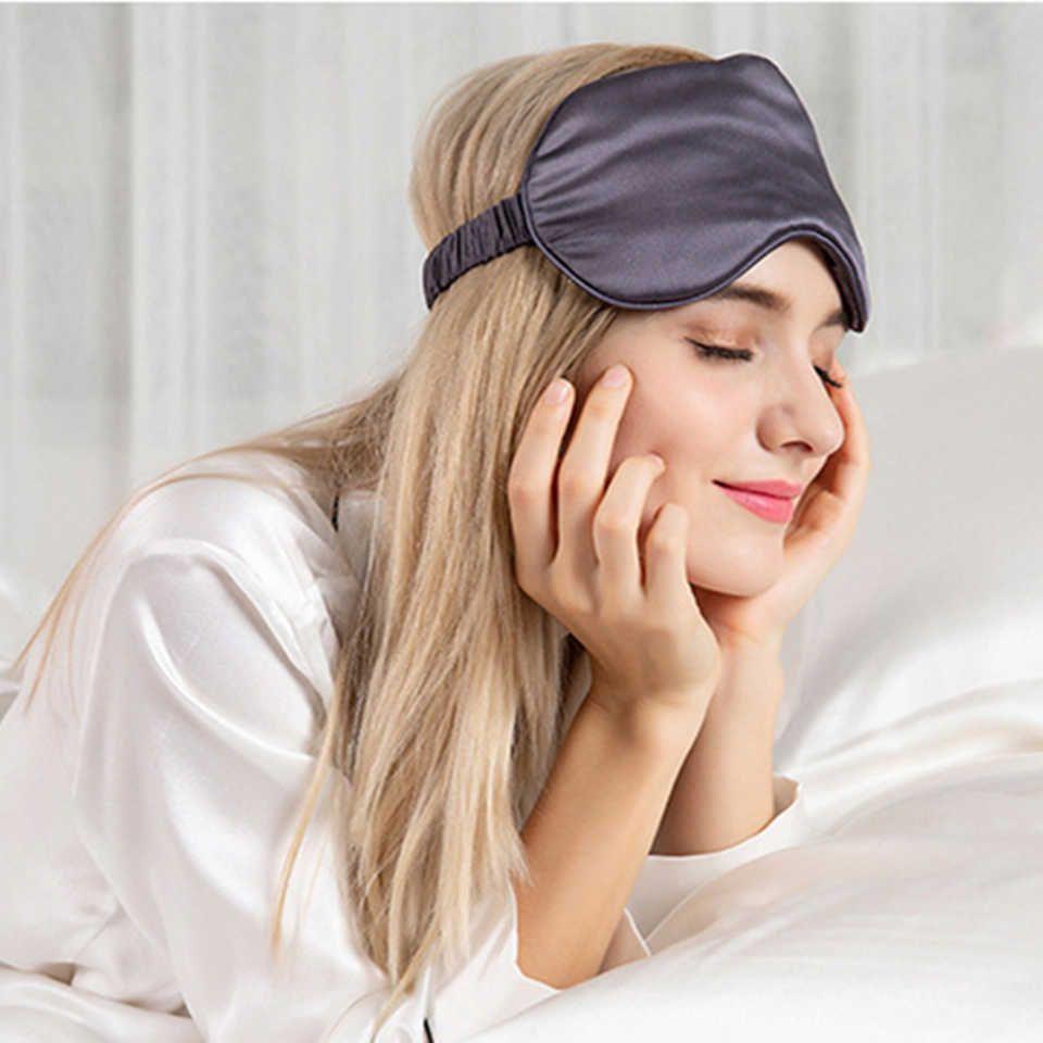 Hot Sale Custom Logo Printed 100 Light Blocking Silk Sleep Eye Mask Silk Sleep Sleep Eye Mask Sleep Mask