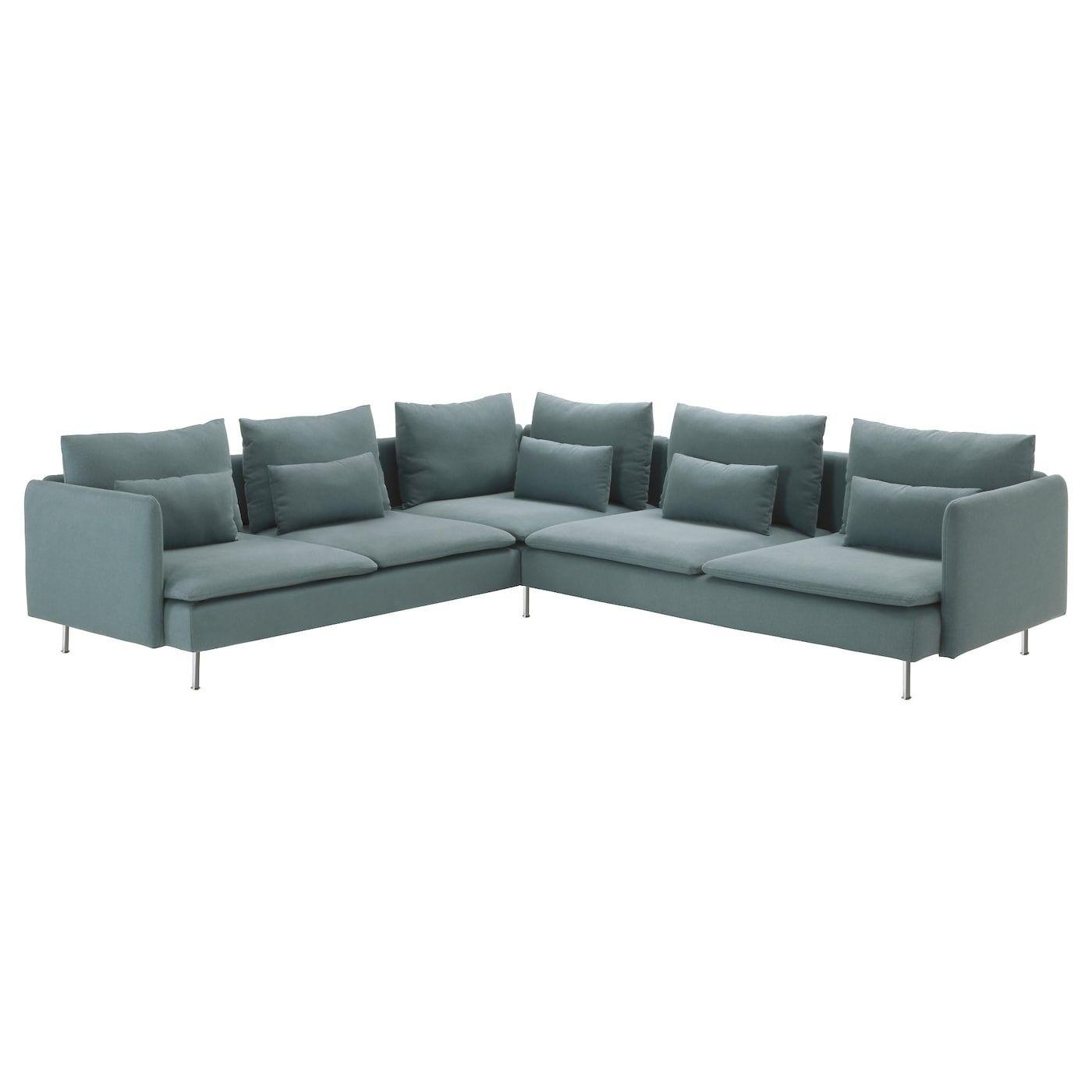 Soderhamn Sectional 5 Seat Finnsta Turquoise Ikea In 2020 Corner Sofa Modular Corner Sofa Fabric Sofa