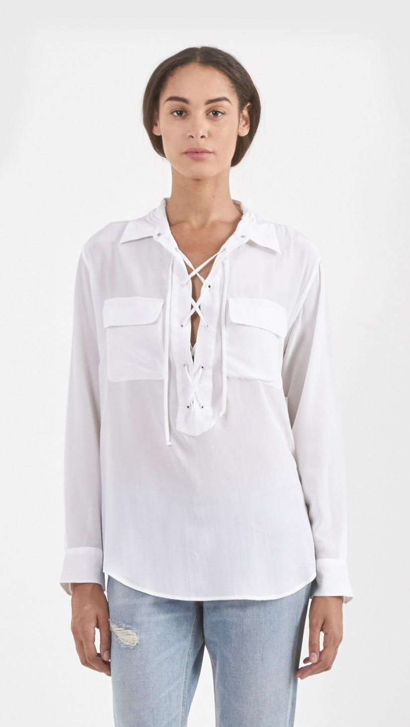 Equipment Knox Shirt in Bright White   The Dreslyn