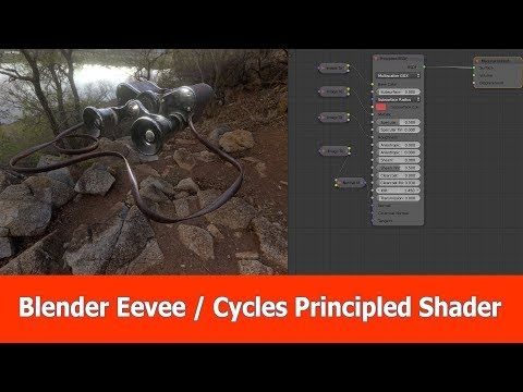 Blender Eevee / Cycles : One Principled PBR Shader | 3D