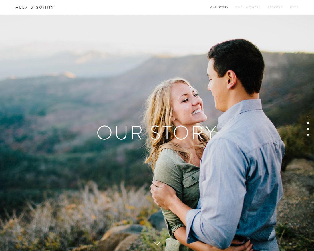 Square Space wedding website. So over The Knot and other
