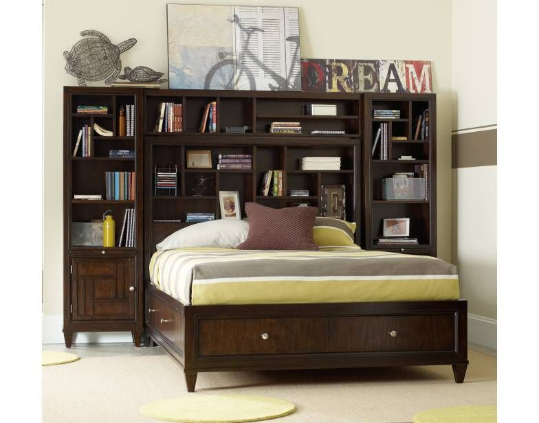 Ludlow Full Storage Bed W/Piers / #furniture #youth #istore /  Http://www.hookerfurniturebyinteriors.com/product/5775/Ludlow +Full+Storage+Bed+w Piers