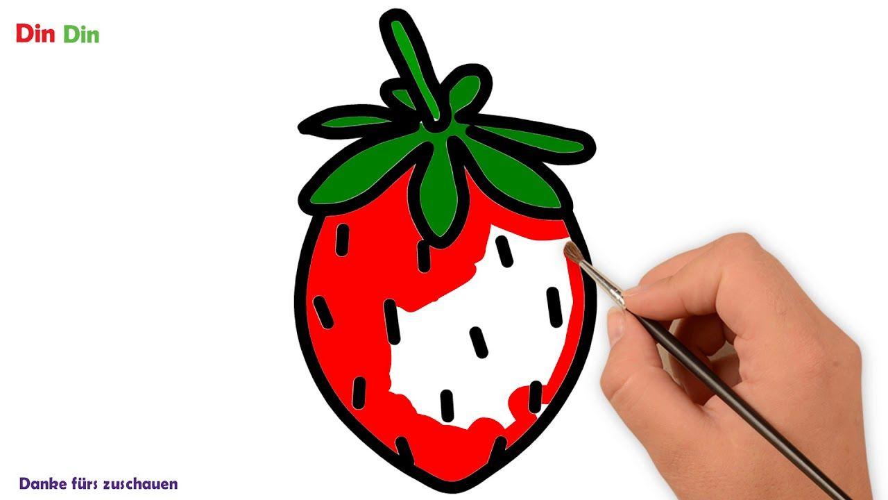 Wie Zeichnet Man Erdbereen Obst Malvorlagen Fur Kinder Erdbereen Fur Malvorlagen Fur Kinder Obst Kleinkind