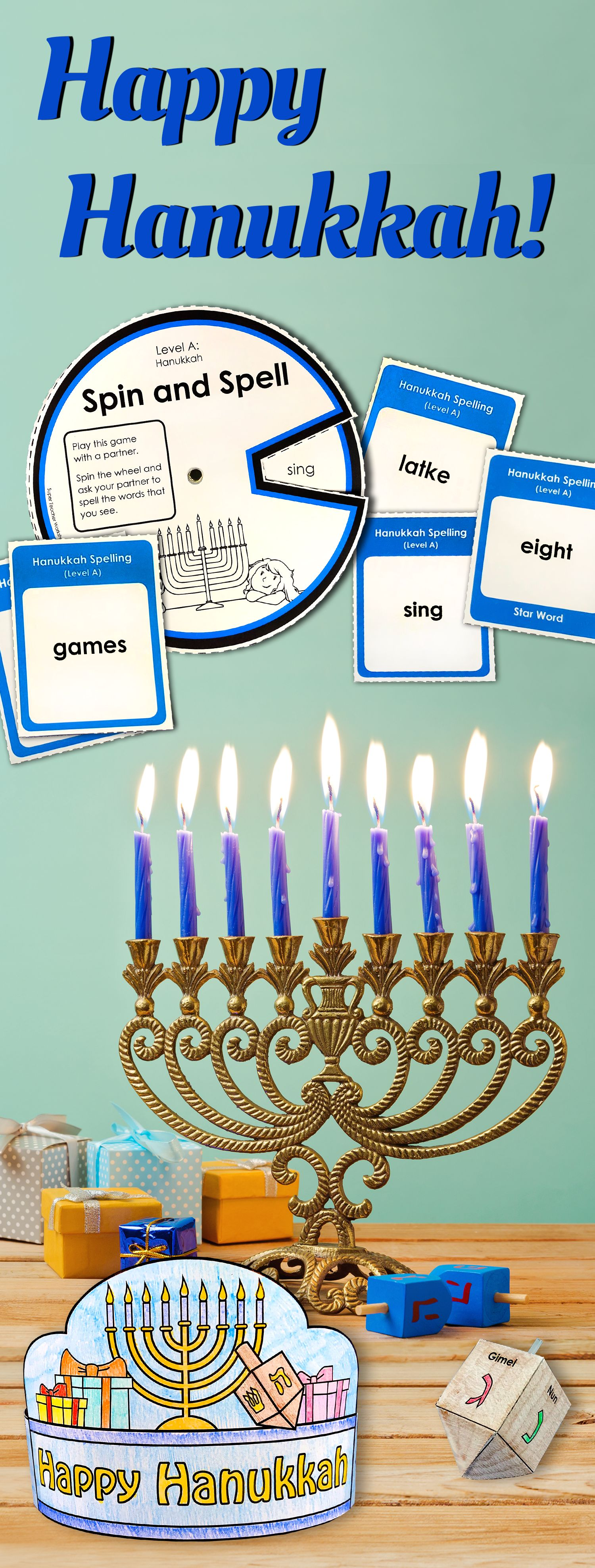 Print Out Educationalactivities To Celebrate Hanukkah