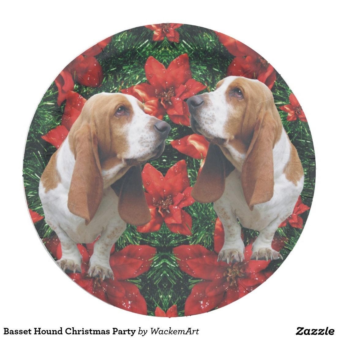Basset Hound Christmas Party Paper Plate  sc 1 st  Pinterest & Basset Hound Christmas Party Paper Plate | Christmas Paper Plates ...