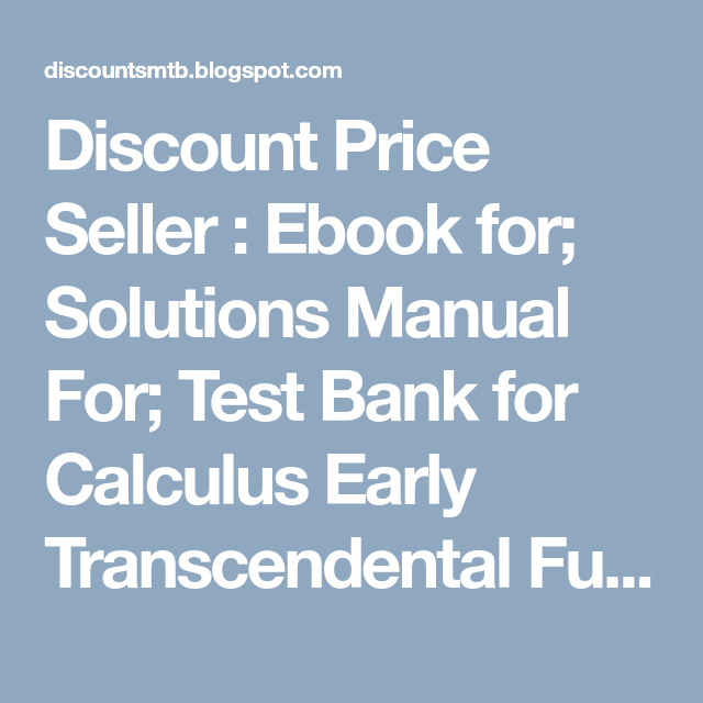 Calculus larson 9th edition solution guide ebook ebook calculus an applied approach array discount price seller ebook for solutions manual for test bank rh pinterest com fandeluxe Choice Image