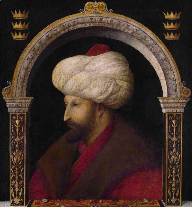 Portrait of Sultan Mehmed II by Gentile Bellini, 1480 ...