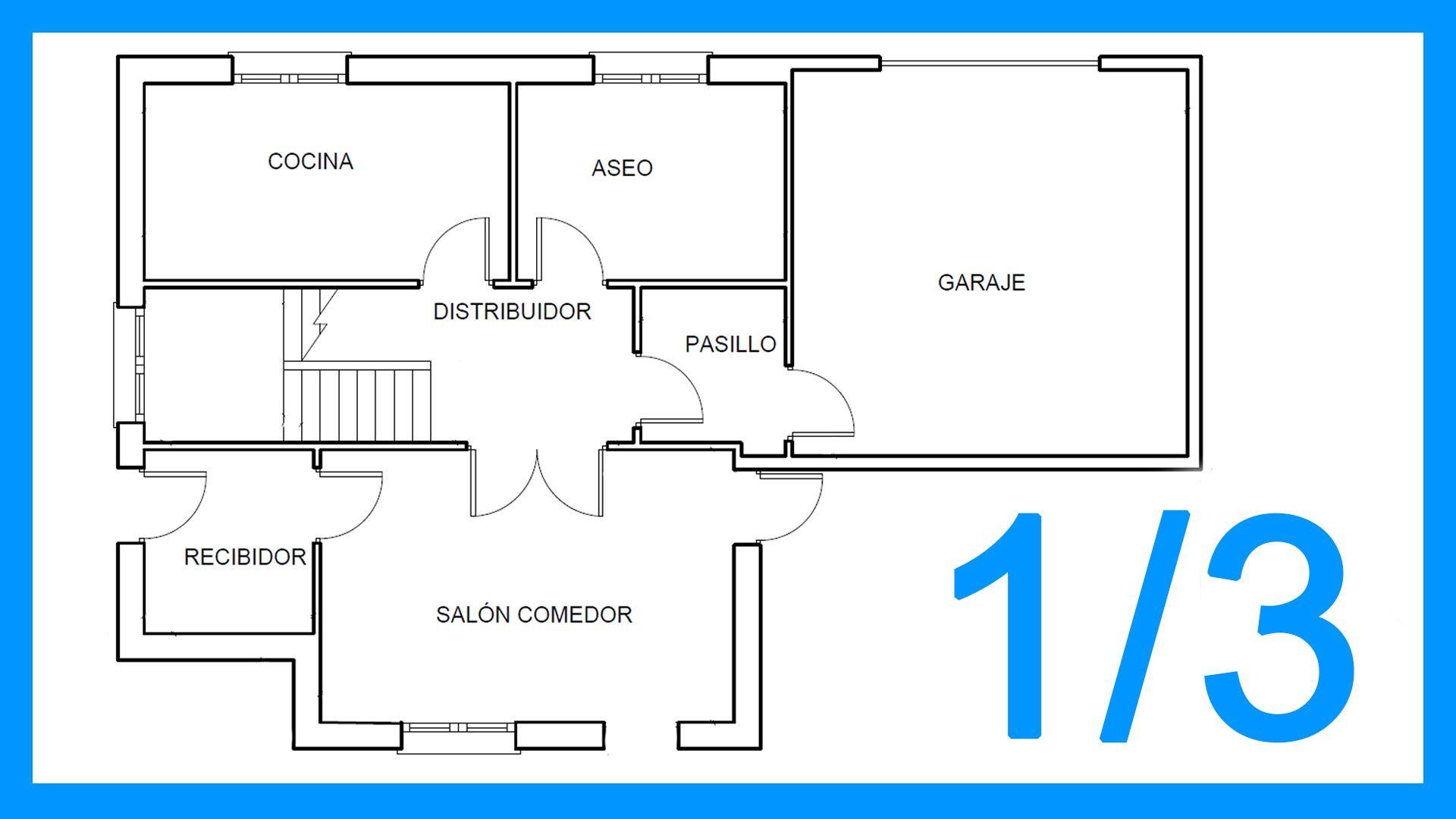 Autocad 1 3 Dibujar El Plano De Una Casa Paso A Paso En Autocad  ~ Programa Para Hacer Planos De Viviendas