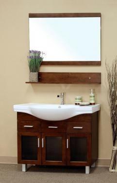 40 Inch Single Sink Bathroom Vanity In Medium Walnut  For The Impressive 40 Inch Bathroom Vanity Review