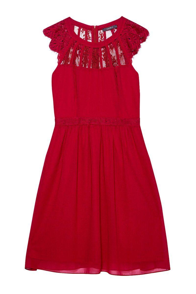 leuchtend rotes konfirmationskleid von esprit | kleider
