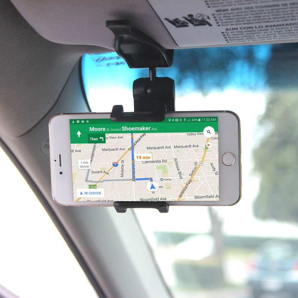 5c9bb1e9897fc1 Mount your phone in a convenient place with the Cellet Visor Phone Holder.  With a 360 degree rotating holder arm, your device can be positioned in any  ...