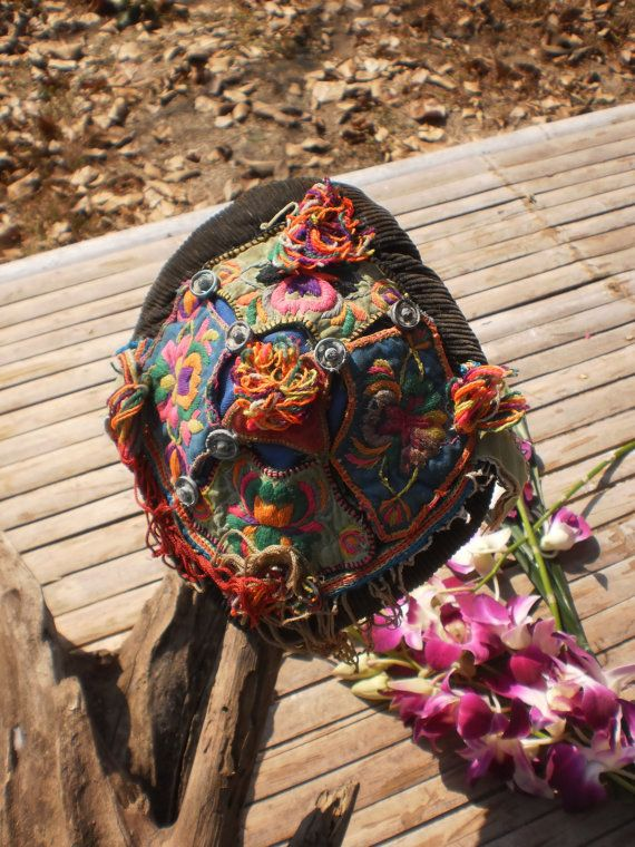 Hmong Vintage Tribal Baby Hats by KulshiMumkin on Etsy, $27.00
