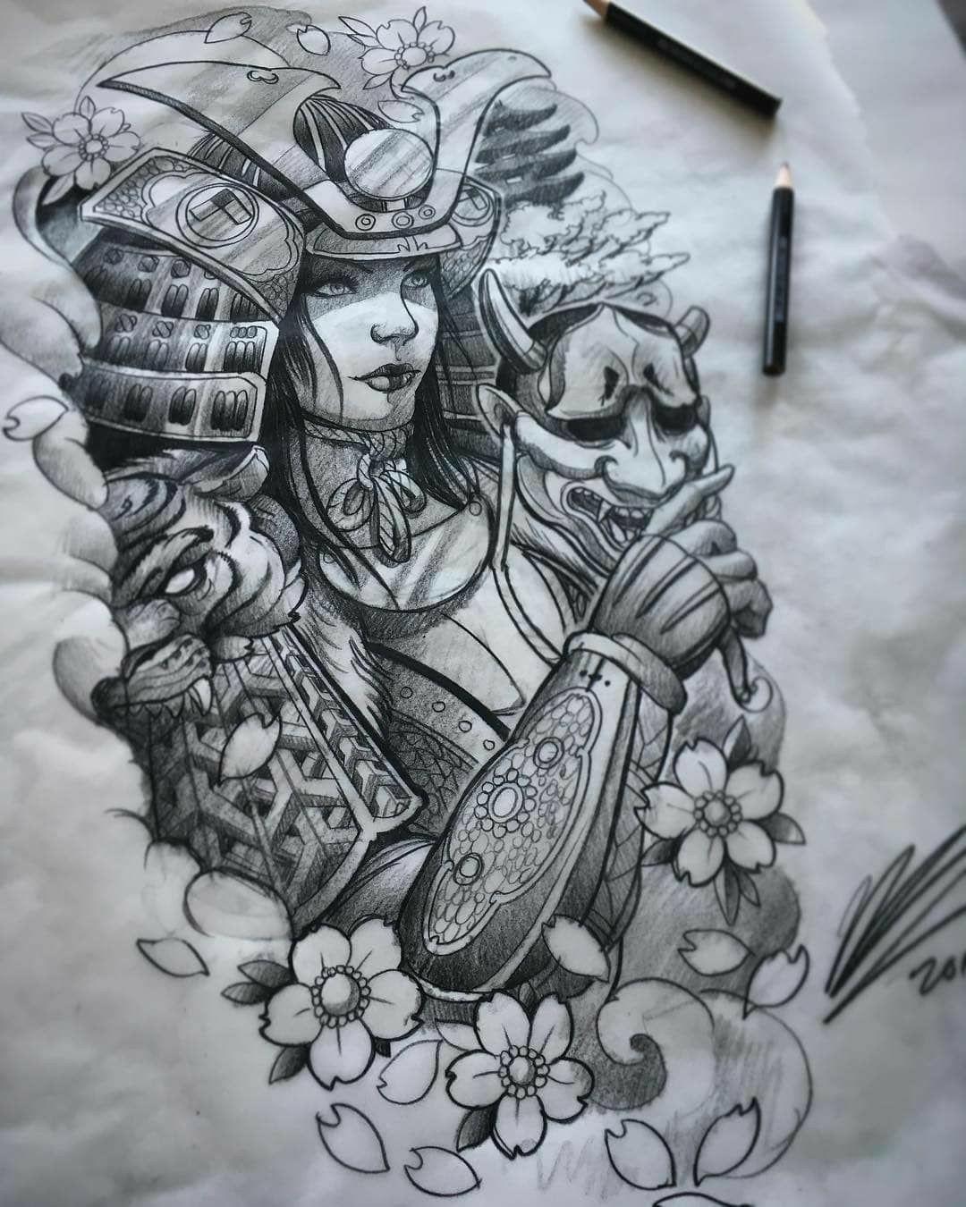 Pin By Win Thu On Samurai Idea Samurai Tattoo Design Japanese