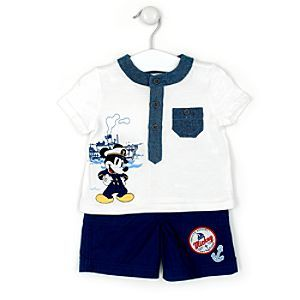 Disney Mickey Mouse Nautical T-Shirt And Shorts Set | Disney StoreMickey Mouse Nautical T-Shirt And Shorts Set - Set sail for summer with this Mickey Mouse T-shirt and shorts set! The round-neck T-shirt features chambray trim and Mickey artwork, while the shorts are decorated with badges and an embroidered anchor!