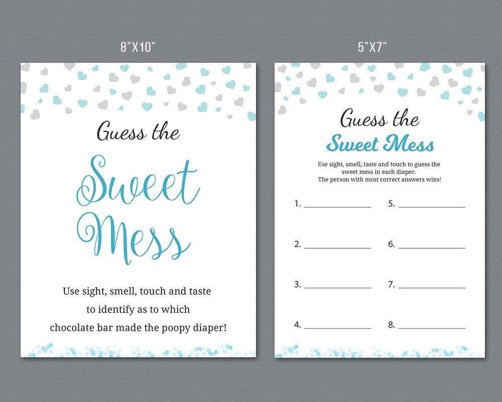 Guess The Sweet Mess Boy Baby Shower Games Poopy Diaper Game Etsy Boy Baby Shower Games Baby Boy Shower Baby Shower Games